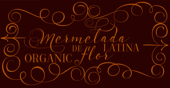Acústica Font to communicate delicate and feminine context